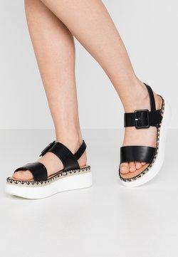 Tata Italia - Korkeakorkoiset sandaalit - black