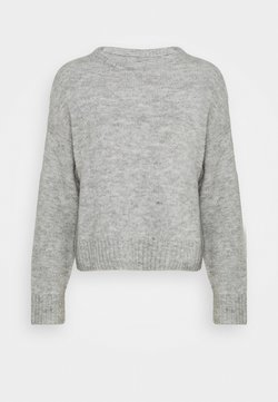 Even&Odd - BASIC- SHORT JUMPER - Strikkegenser - light grey