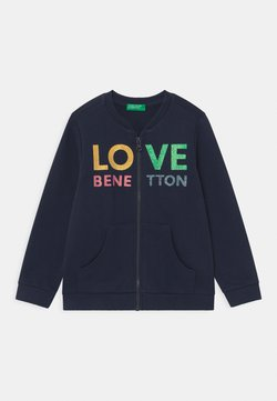 Benetton - Hoodie met rits - dark blue