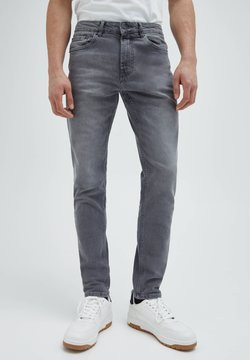 PULL&BEAR - Jean slim - mottled dark grey