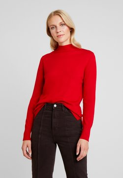 Marc O'Polo - TURTLE NECK BEST BASICS - Strickpullover - cranberry red