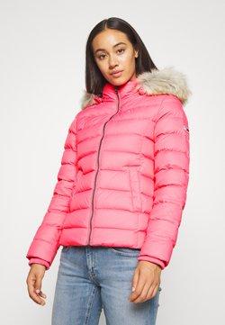 Tommy Jeans - BASIC HOODED JACKET - Untuvatakki - glamour pink
