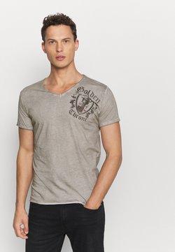 Key Largo - ROOTS NECK - T-shirt print - silver