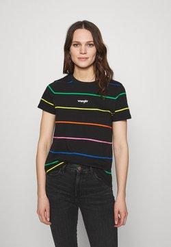 Wrangler - HIGH REGULAR TEE - T-Shirt print - worn black
