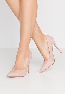 Miss Selfridge Wide Fit - WIDE FIT CATERINA PLAIN COURT SHOE - High Heel Pumps - nude