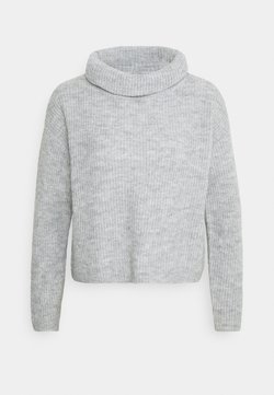 Anna Field - COWL NECK JUMPER - Stickad tröja - mottled light grey