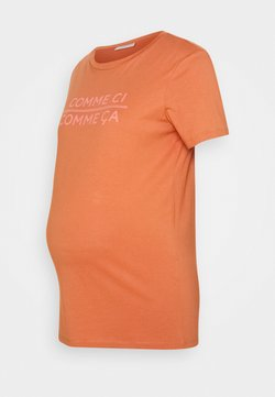 Pieces Maternity - PCMSANICCA TEE - Camiseta estampada - sunburn