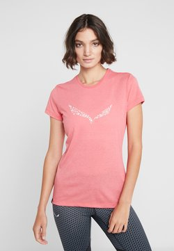 Salewa - SOLID TEE - T-Shirt print - rouge red melange