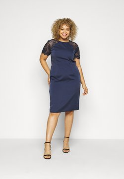 Chi Chi London Curvy - ARMILLA DRESS - Vestido de cóctel - navy