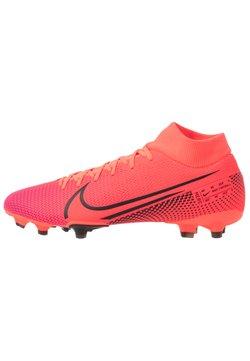 Nike Performance - MERCURIAL 7 ACADEMY FG/MG - Fußballschuh Nocken - laser crimson/black