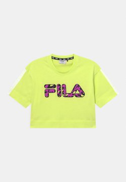 Fila - PALOMA CROPPED WIDE - Camiseta estampada - neon green