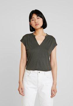 Opus - SANDI MINIFLOWER - T-shirt z nadrukiem - oliv green