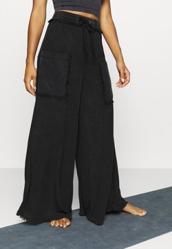 Free People - SURE THING PANT - Pantalones deportivos - black