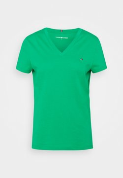 Tommy Hilfiger - NEW VNECK TEE - T-Shirt basic - primary green