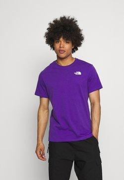 The North Face - DISTORTED LOGO - Print T-shirt - peak purple/black