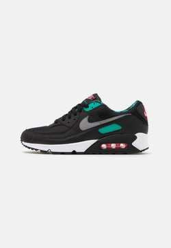 Nike Sportswear - AIR MAX 90 UNISEX - Trainers - black /smoke grey /new green/pink