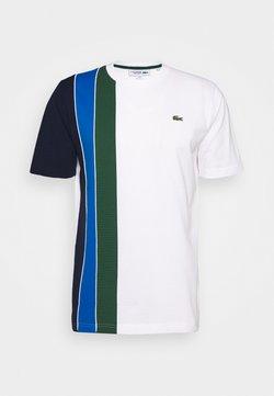 Lacoste Sport - RAINBOW - T-shirt imprimé - white/navy blue/utramarine/green/white