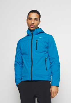 CMP - MAN JACKET ZIP HOOD - Softshelljacke - river blue ink