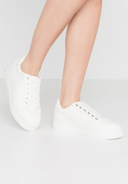 Topshop - CANDY LACE UP TRAINER - Sneakers laag - white