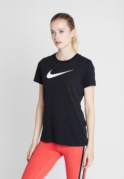 Nike Performance - DRY TEE CREW - T-Shirt print - black/white