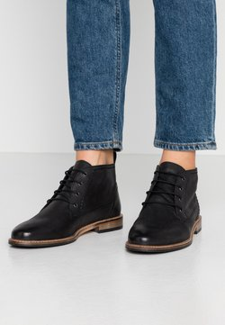 Anna Field - LEATHER BOOTIES - Bottines à lacets - black