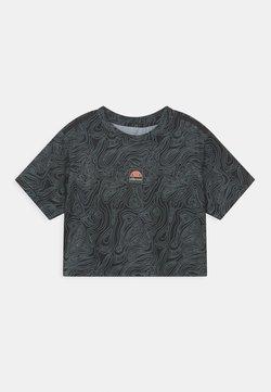Ellesse - ASALI CROPPED UNISEX - T-shirt print - olive/dark grey