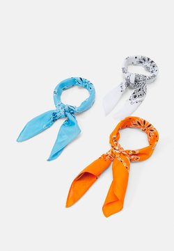 Urban Classics - BANDANA 3 PACK UNISEX - Tuch - orange/lightblue/white