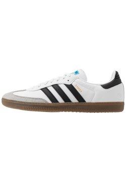 adidas Originals - SAMBA VEGAN - Sneaker low - footwear white/core black