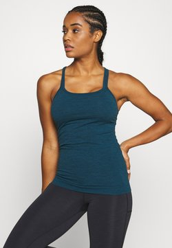 Sweaty Betty - NAMASKA SEAMLESS PADDED YOGA - Top - beetle blue