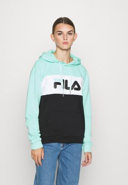 Fila - LORI HOODIE - Sweat à capuche - black/beach glass/bright white