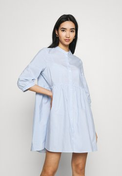 Vero Moda - VMSISI 3/4 DRESS - Freizeitkleid - snow white/cashmere blue