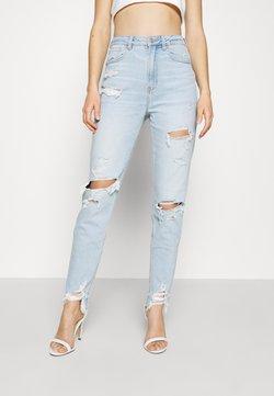 American Eagle - HIGHEST RISE MOM - Jeans slim fit - light blue denim