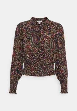 Miss Selfridge - PAISLEY TIE NECK BLOUSE - Blusa - black
