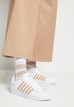 K-SWISS - COURT WINSTON - Sneakers laag - white/nougat