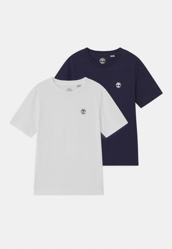 Timberland - 2 PACK - T-shirt con stampa - navy/white
