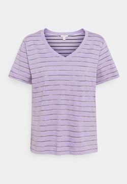 edc by Esprit - STRIPE - T-Shirt print - purple/purple