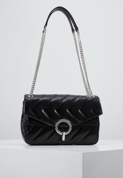 sandro - QUILTED CHAIN SHOULDER BAG - Torebka - black