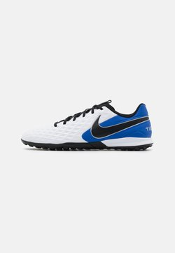 Nike Performance - TIEMPO LEGEND 8 ACADEMY TF - Astro turf trainers - white/black/hyper royal/metallic silver