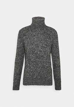 TOM TAILOR - TURTLE NECK SWEATER - Neule - anthra grey/heavy melange