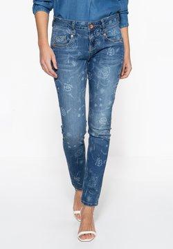 Amor, Trust & Truth - MIT FLORALEM MUSTER - Jeans Slim Fit - blau