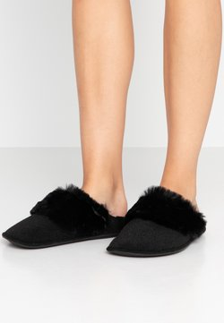 Crocs - CLASSIC LUXE SLIPPER  - Chaussons - black