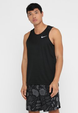 Nike Performance - DRY MILER TANK - Camiseta de deporte - black/black/reflective silver