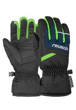 Reusch - BENNET - Fingerhandschuh - blck/dres blue/neon green