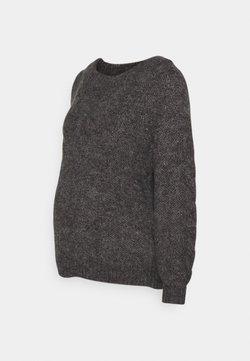 Pieces Maternity - PCMSHELBY BOAT NECK - Pullover - dark grey melange