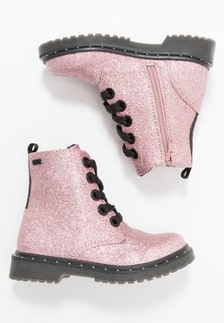 TOM TAILOR - Bottines à lacets - rose