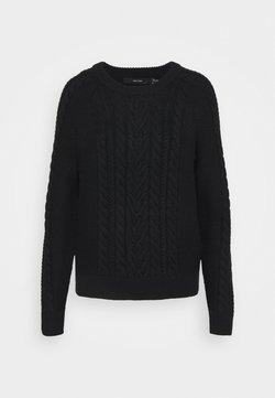Vero Moda Tall - VMPRIYA O NECK BLOUSE  - Sweter - black