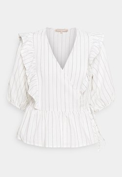 Soft Rebels - VICKIE WRAP TOP - Bluse - snow white/off white