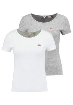 Levi's® - TEE 2 PACK - T-paita - white/smokestack heather