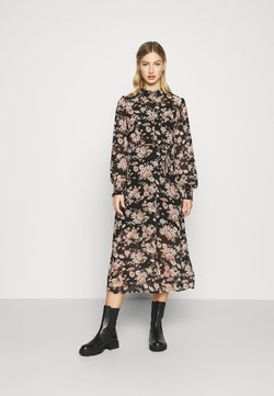 Vila - VIVINDI FUNKEL SHIRT DRESS - Paitamekko - black/flowers