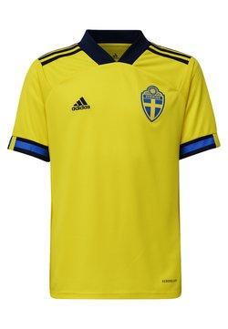 adidas Performance - SWEDEN SVFF HOME JERSEY - Landslagströjor - yellow/night indigo